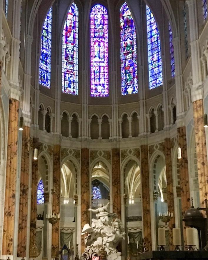 Restaurierter Chorraum Kathedrale Notre-Dame Chartres Frankreich Weltkulturerbe
