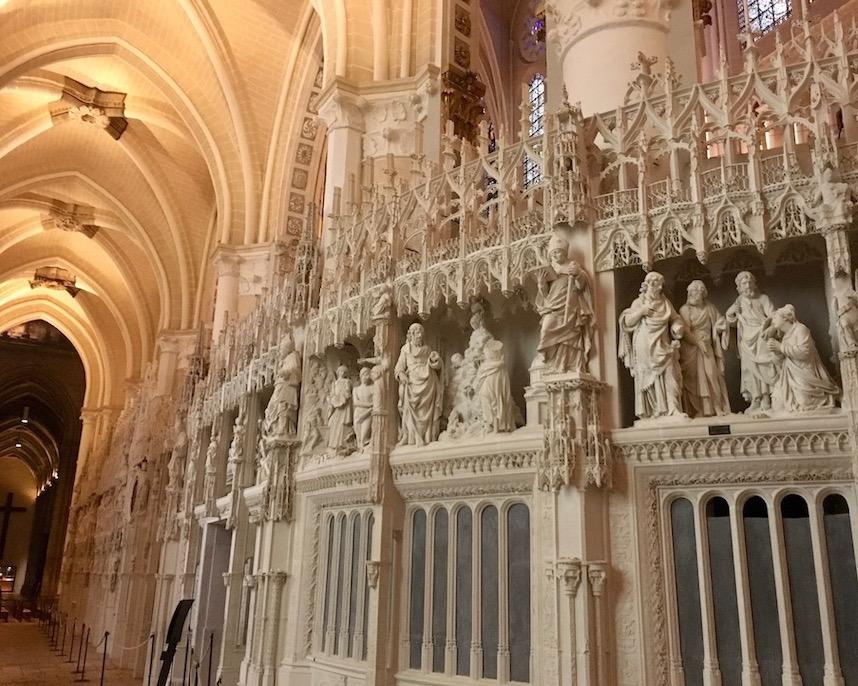 Restaurierter Chorumgang Kathedrale Notre-Dame Chartres Frankreich Weltkulturerbe