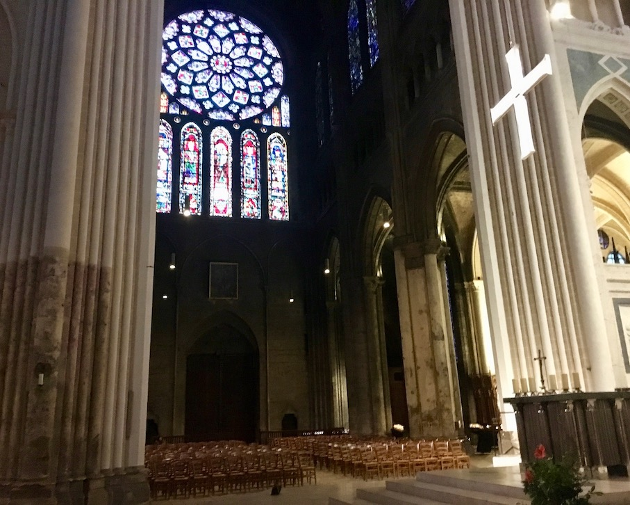 Südliches Seitenportal von Innen in der KathedraleNotre-Dame von Chartres Frankreich Weltkulturerbe
