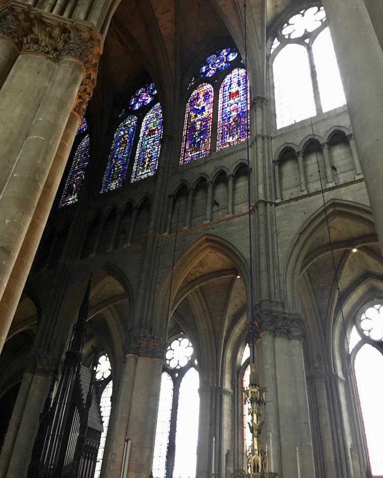 Südliches Seitenschiff Kathedrale Notre-Dame von Reims Bretagne Frankreich Weltkulturerbe