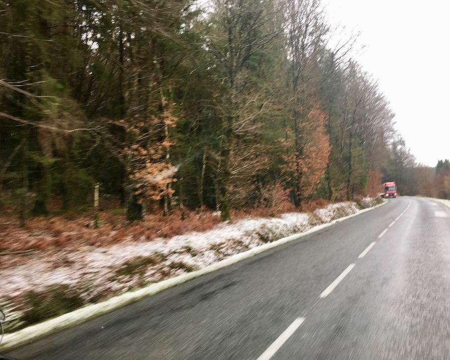 Schnee in der Bretagne