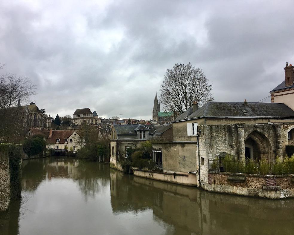 Stadtansicht von Chartres  Bretagne Frankreich