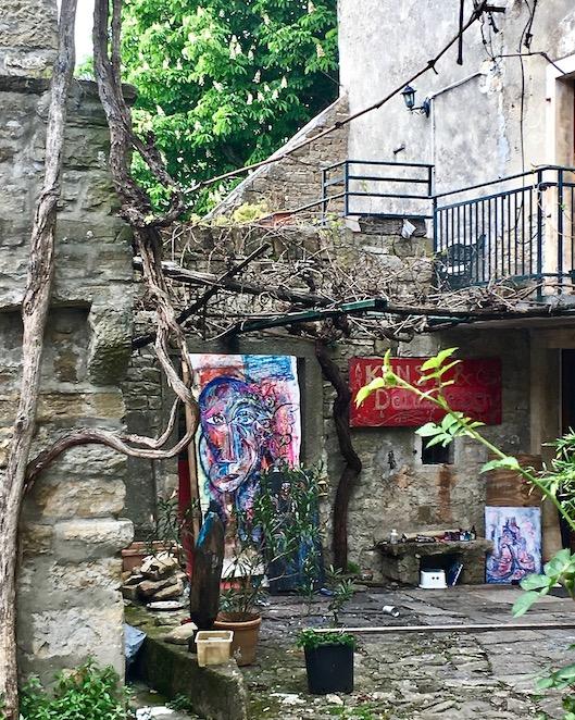 überall Galerien in Groznjan