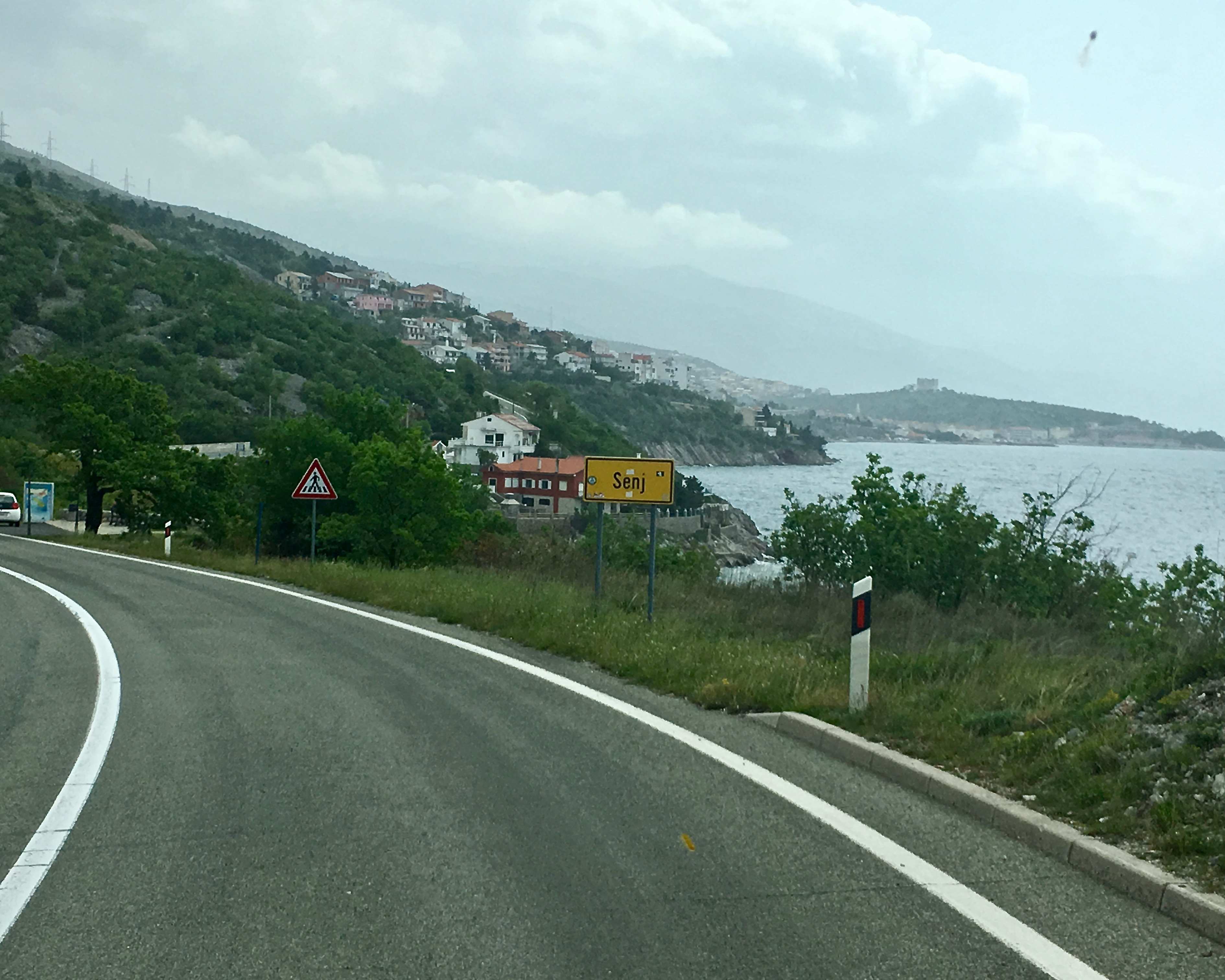Anfahrt auf Senji Kroatien