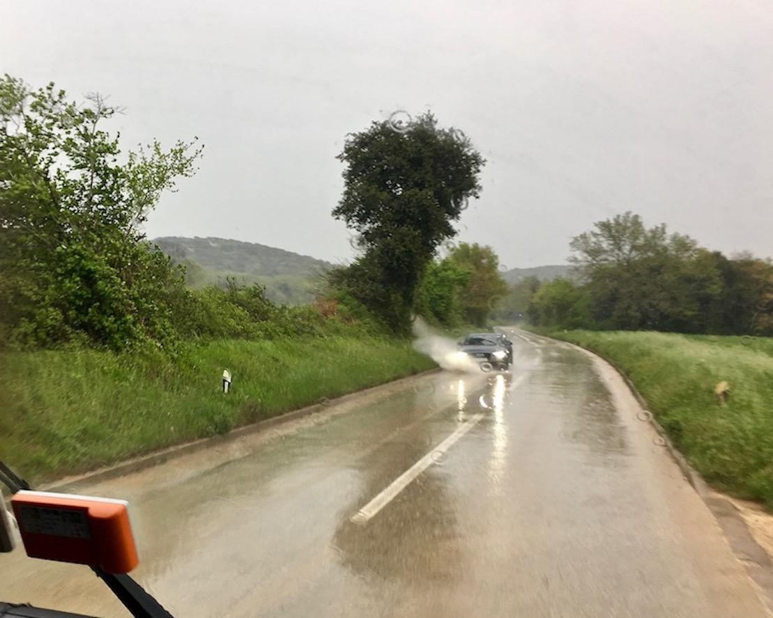 Auf dem Weg nach Flengi in Istrien