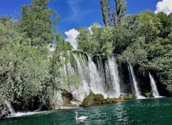 Krka-Wasserfälle Kroatien Der Roski-slap der Krka Wasserfälle