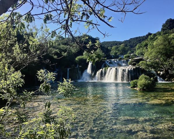 Krka-Wasserfälle Nationalpark-Krka Skradin Kroatien Der Skradinski Buk der Krka-Wasserfalle