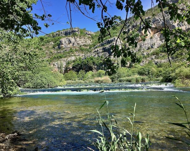 Krka-Wasserfälle Nationalpark-Krka Skradin Kroatien Die Halsketten der Krka