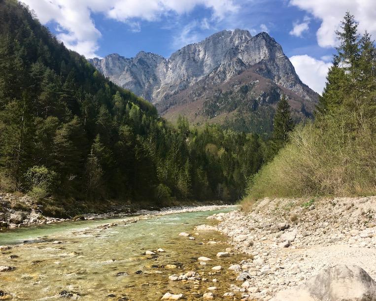 Die Koritnica auf dem Weg zur Sôca