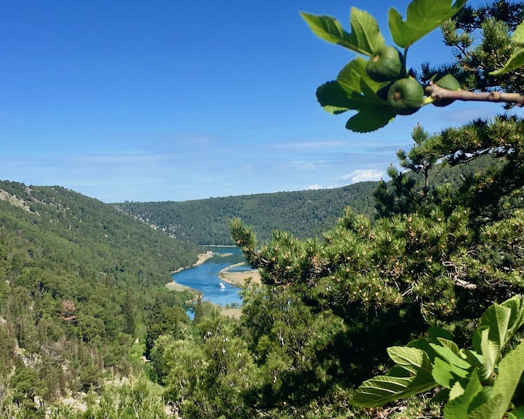 Krka-Wasserfälle Nationalpark-Krka Skradin Kroatien Die Krka von oben