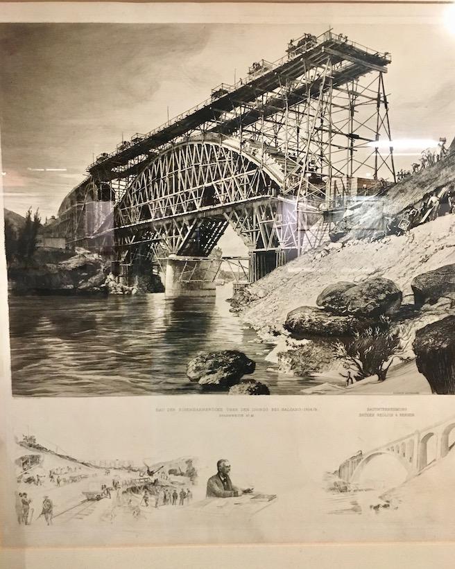Eisenbahnbrücke über den Isonzo bei Salcana