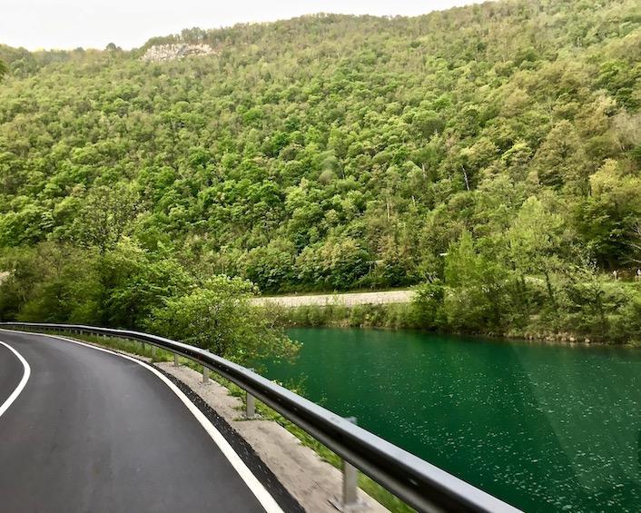 Entlang der Soca Isonzo