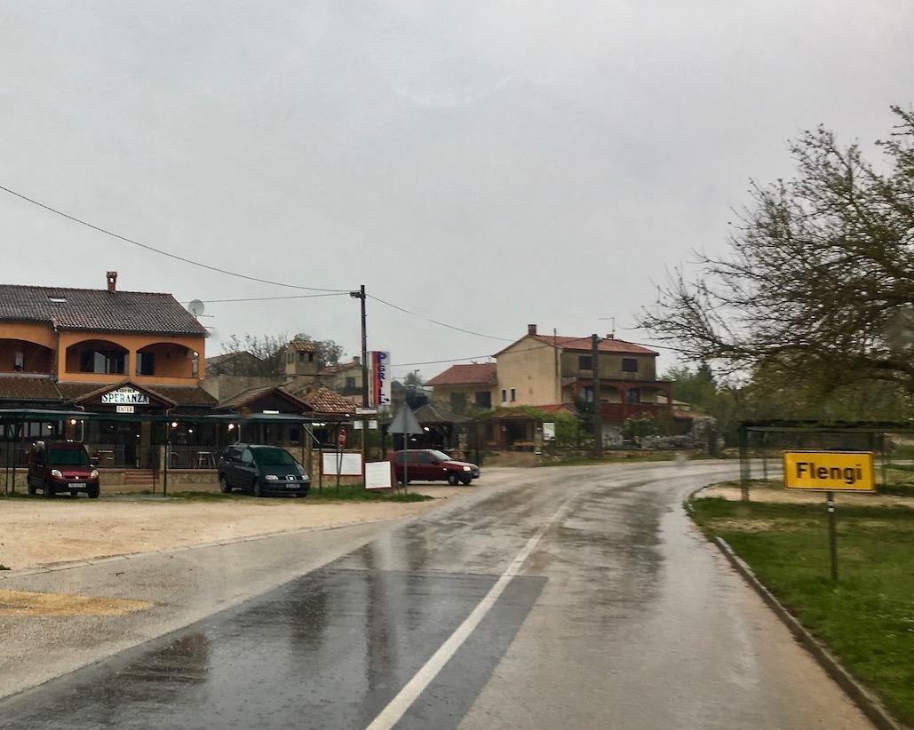 Flengi in Istrien bei Regen