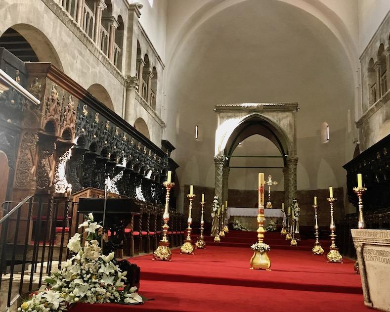 Zadar Altstadt Dalmatien Kroatien Frühgotisches Ziborium Kathedrale St. Anastasia Zadar