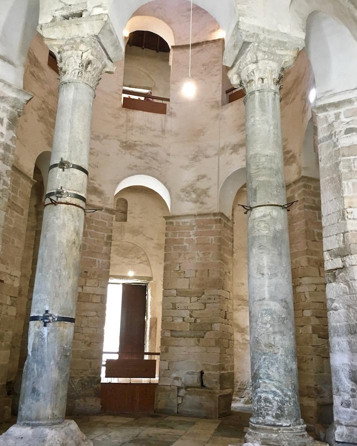 Zadar Altstadt Dalmatien Kroatien Innenraum der Kirche des Heiligen Donatus in Zadar