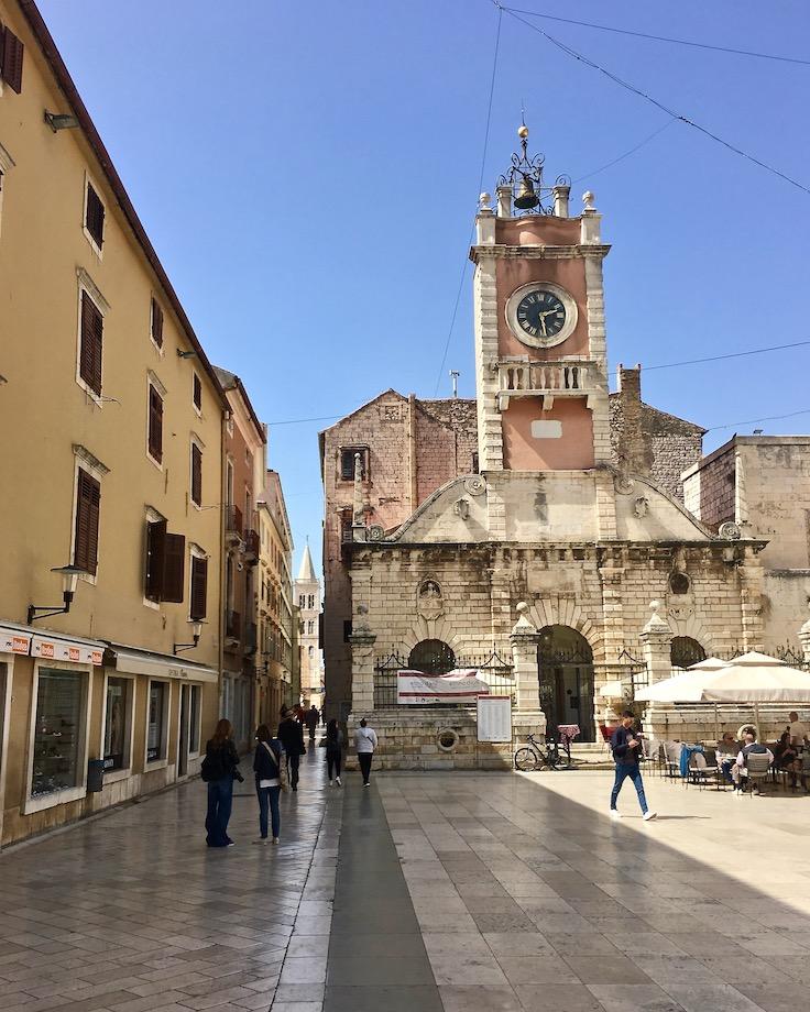 Zadar Altstadt Dalmatien Kroatien Kirche Sveti Lovro in Zadar Kroatien