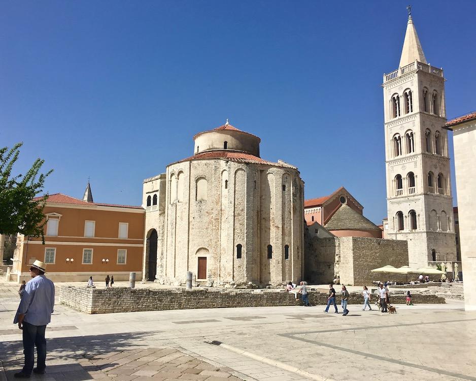 Zadar Altstadt Dalmatien Kroatien Kirche des Heiligen Donatus in Zadar Kroatien
