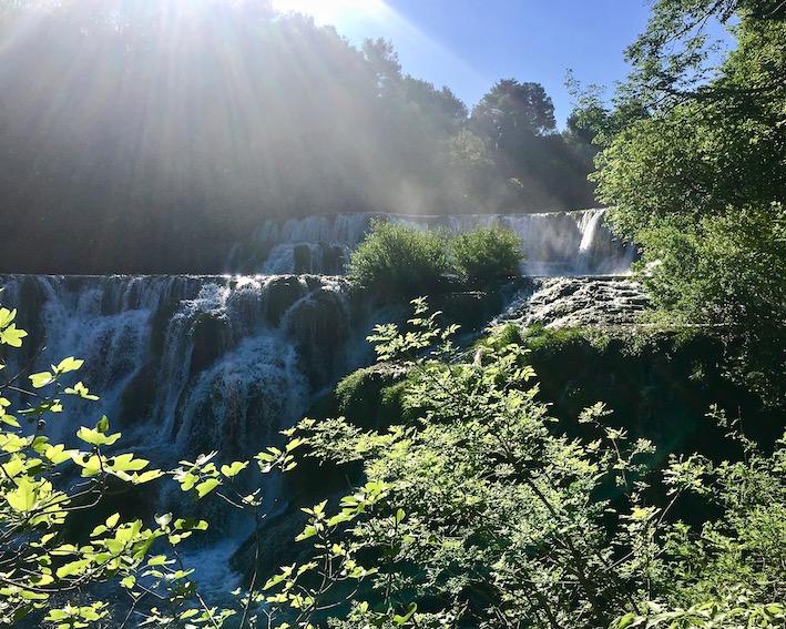 Krka-Wasserfälle Skradinski-Buk Krka-Wasserfälle Nationalpark-Krka Skradin Kroatien