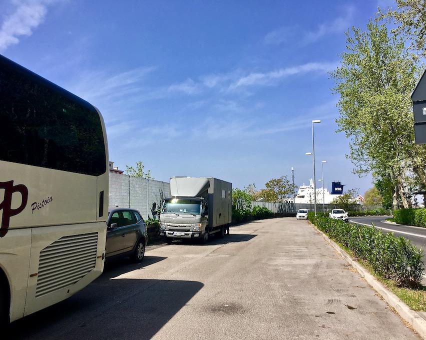 mole-on-tour Wohnmobile-Stellplatz, Parkplatz an der Passeggio Sant Andrea in Triest