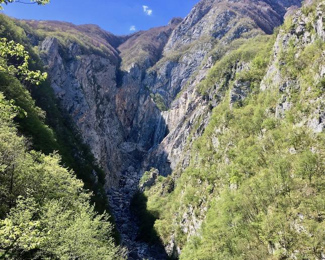 Schlucht des Boka Wasserfall