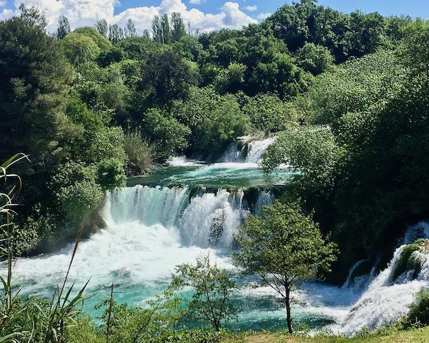 Skradinski-Buk bei Skradin Kroatien Krka-Wasserfälle Nationalpark-Krka Skradin Kroatien