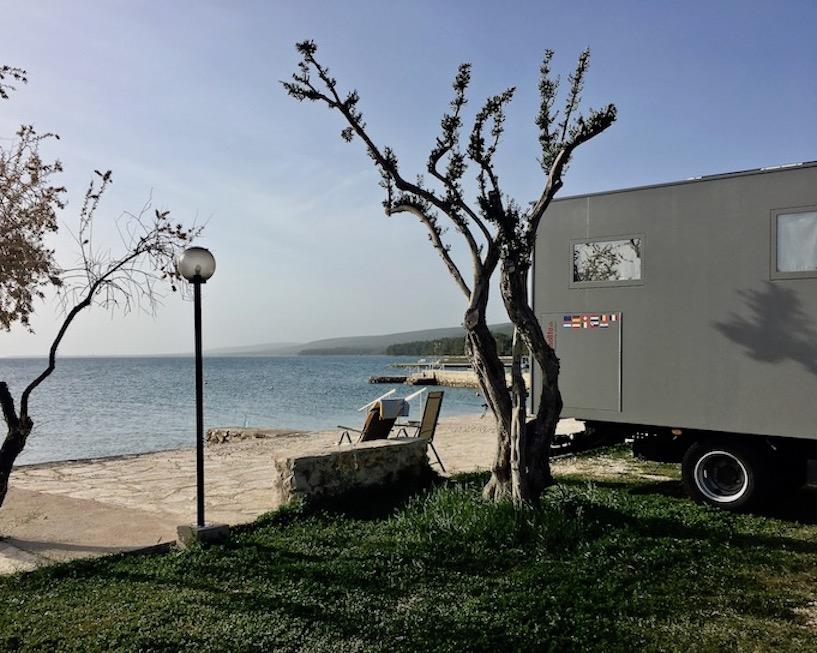 Wohnmobilestellplatz von mole-on-tour in Sveti Petar na Moru Kroatien