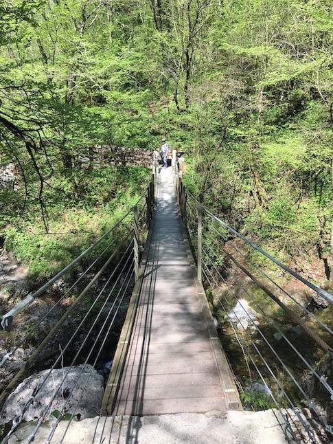 Teufelsbrücke in der Tolminer Klamm