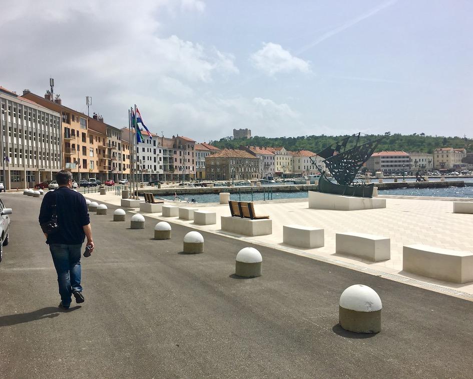 Uferpromenade in Senji Kroatien