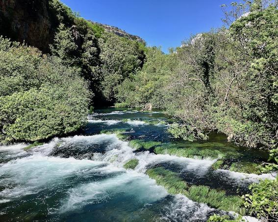 Krka-Wasserfälle Nationalpark-Krka Skradin Kroatien an der Krka die Halsketten