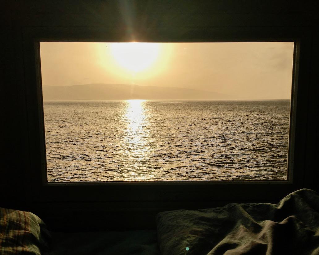 aus dem mole-on-tour Sonnenuntergang in Senji
