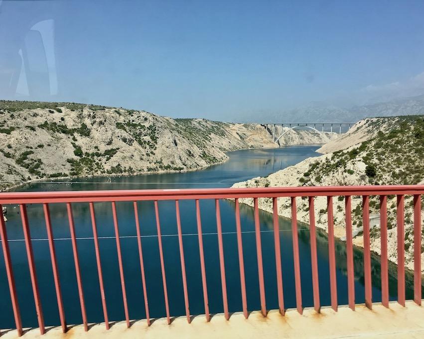 zwei Brücken nach Zadar Kroatien