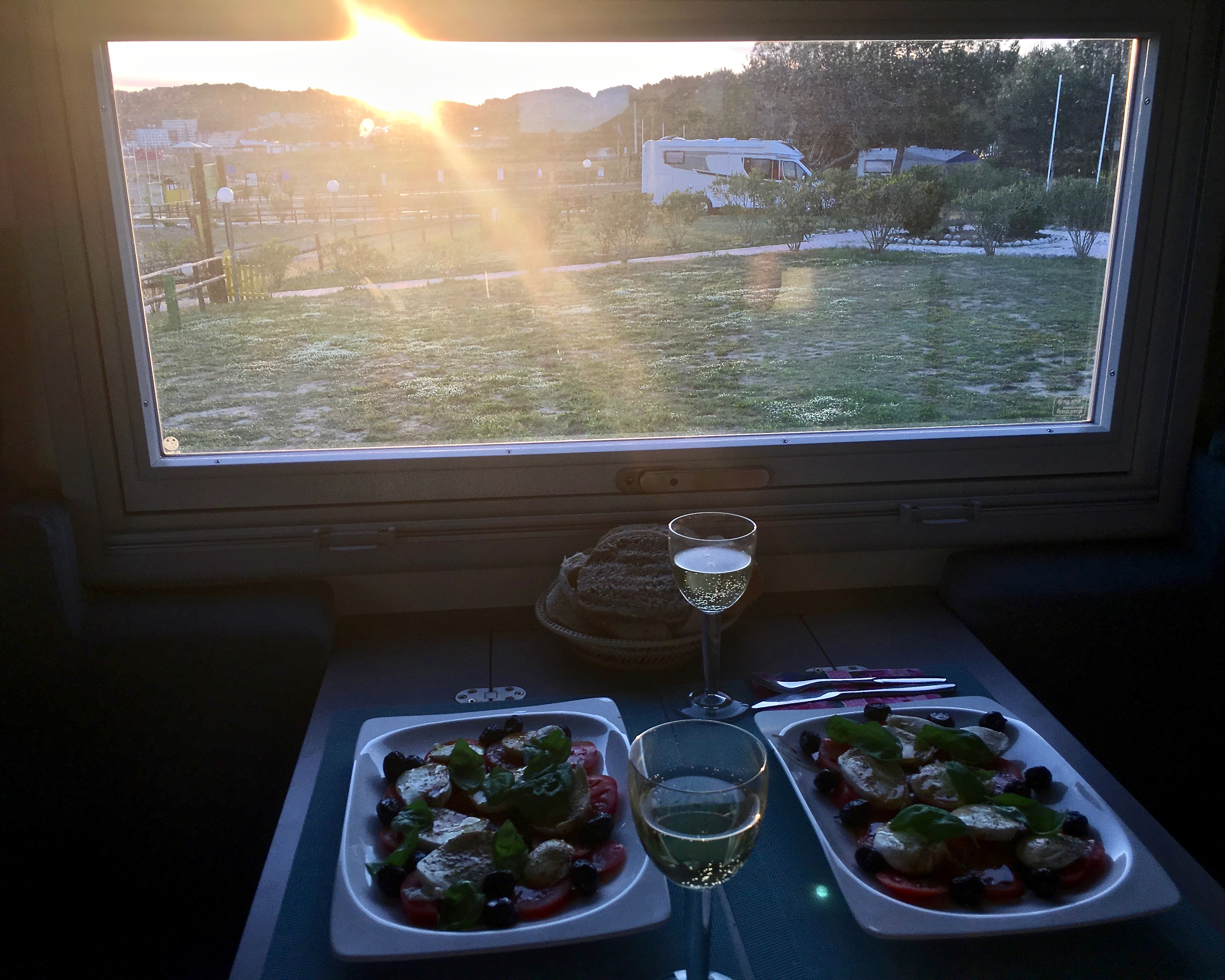 Abendessen im mole-on-tour in Ulcinj