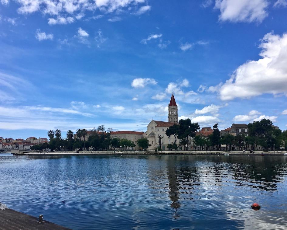 Trogir Kroatien Historische-Altstadt UNESCO-Weltkulturerbe Adriaküste Kroatien Altstadt von Trogir Kroatien