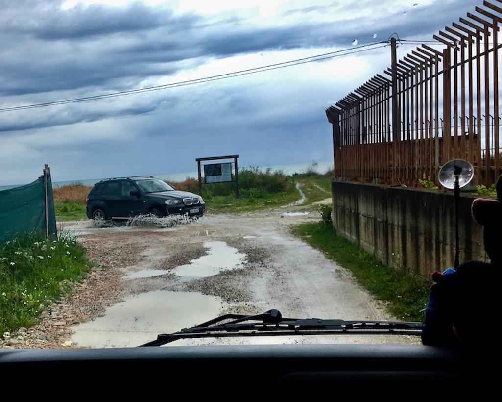 Begegnungen auf dem Weg zum Camping Pa Emer Albanien