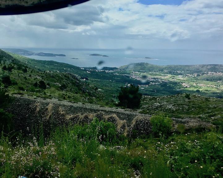 Blick zurück Richtung Cavtat Kroatien