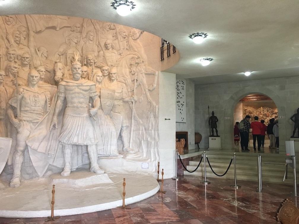 Kruja Albanien Eingang des Skanderberg-Museum Kruja Albanien