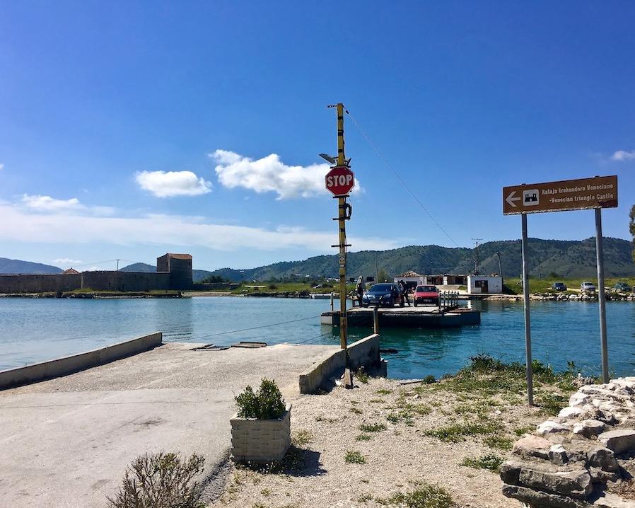 Fähre von Butrint nach Vrine Albanien