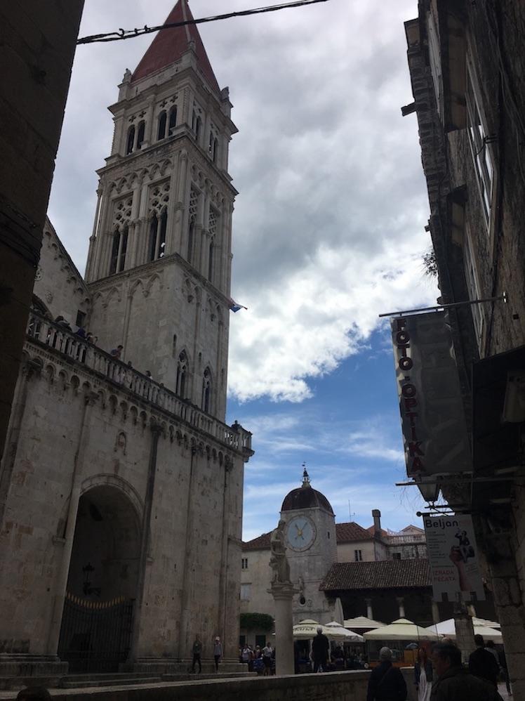 Trogir Kroatien Historische-Altstadt UNESCO-Weltkulturerbe Adriaküste Kroatien Kathedrale des Hl.St. Laurentius in Trogir Kroatien
