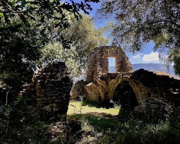 Mauerreste in Butrint Albanien