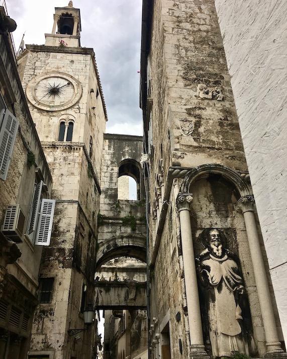 Split Historische-Altstadt UNESCO-Weltkulturerbe Adriaküste Dalmatien Kroatien Palast Ciprianis-Benedetti in Split Kroatien