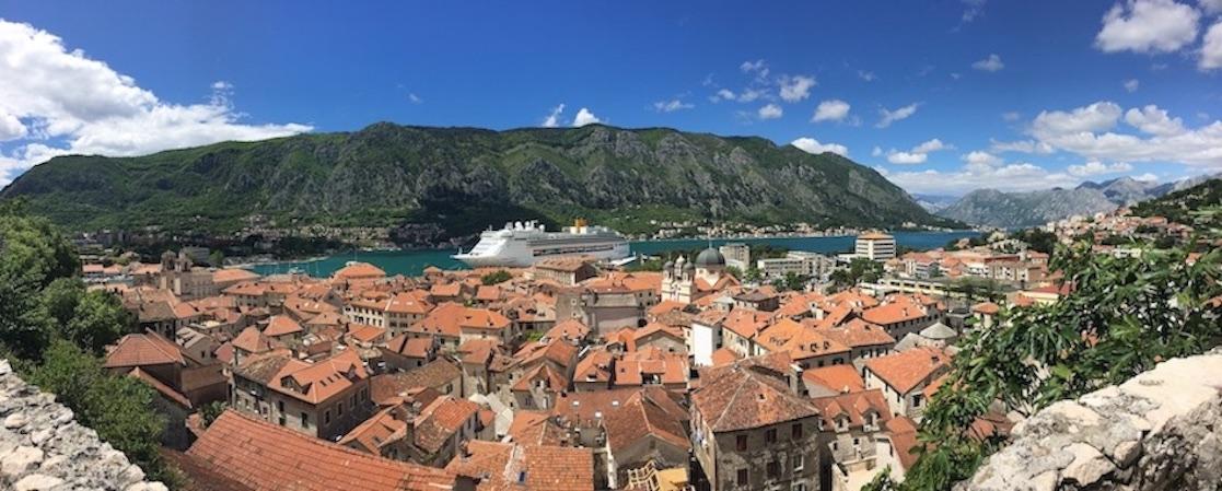 Panorama von Kotor Montenegro