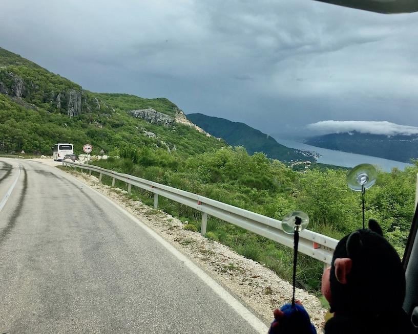 Panoramablick über Herceg-Novi Kotor-Bucht Montenegro