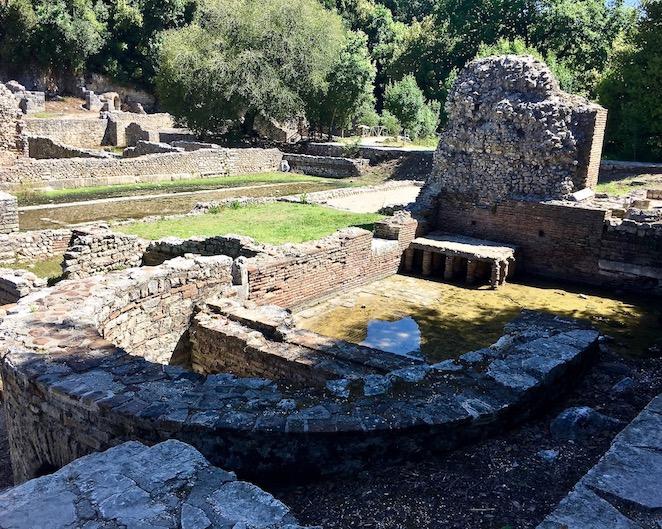 Römisches Bad in Butrint Albanien