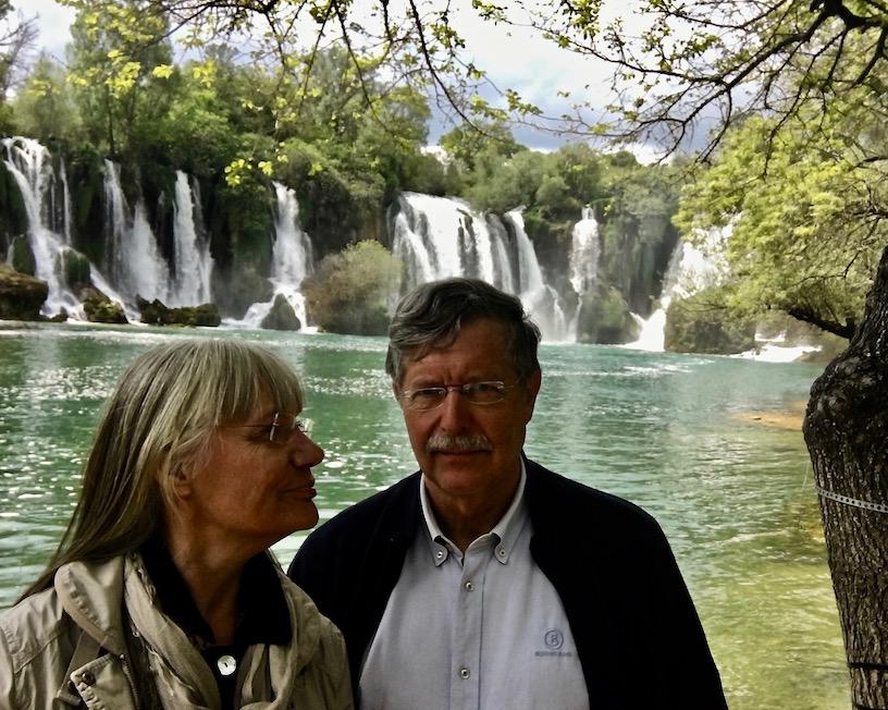 Selfi vor den Kravica-Wasserfällen