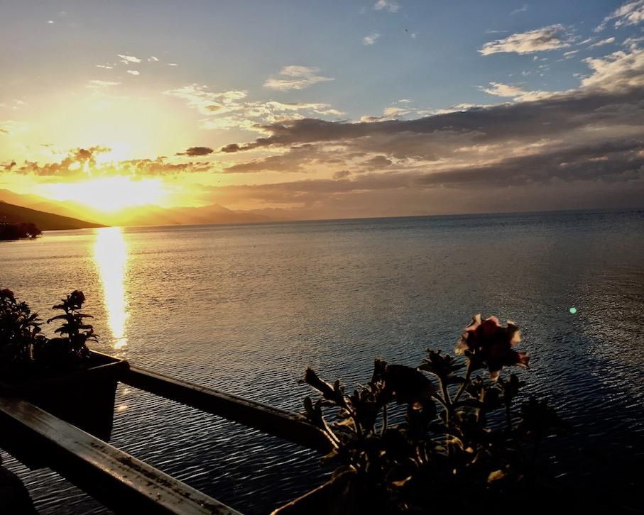 Sonnenuntergang am Skutariesee Albanien