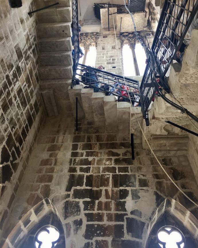 Trogir Kroatien Historische-Altstadt UNESCO-Weltkulturerbe Adriaküste Kroatien Stau im Glockenturm der Kathedrale von Trogir Kroatien