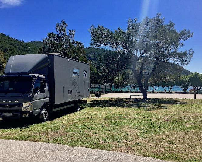 Wohnmobilstellplatz mole-on-tour Auto camp Prapratno Kroatien