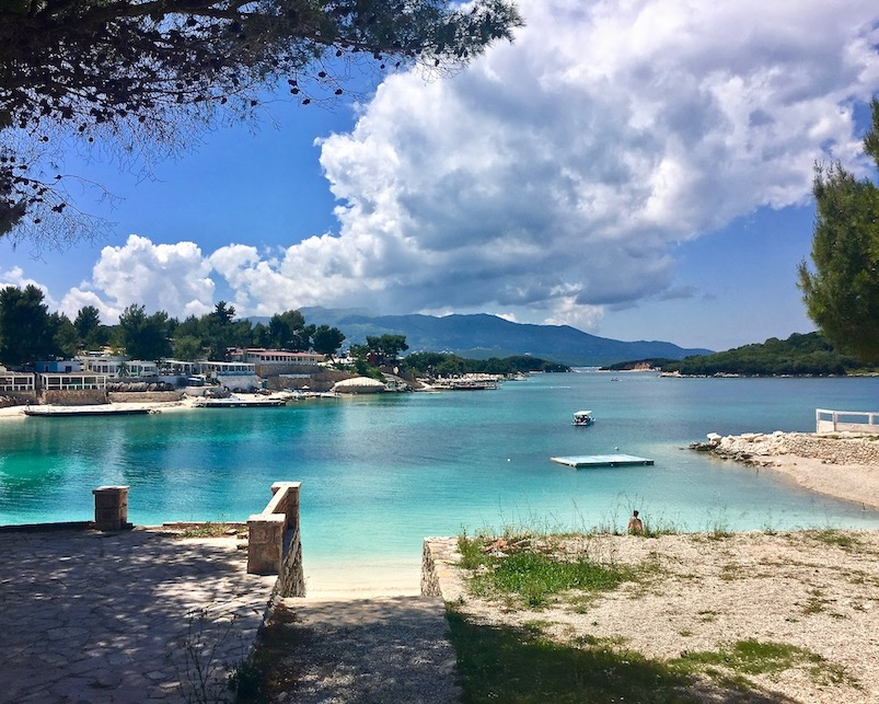 Strand in Ksamil Albanien