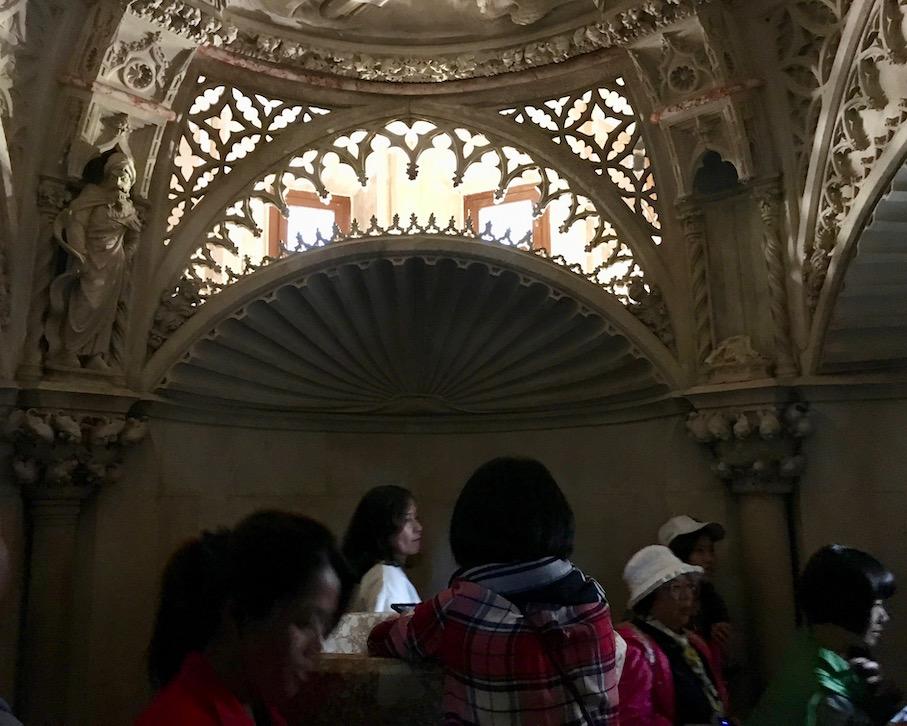 Sibenik Altstadt am Fluss Krka Adriaküste Kroatien UNESCO-Weltkulturerbe Taufkapelle im Seitenschiff Kathedrale des Hl.Jakob Sibenik Kroatien