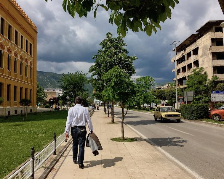 dunkle Wolken in Mostar